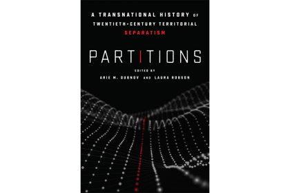 "Book cover for ""Partitions"" by Arie Dubnov"